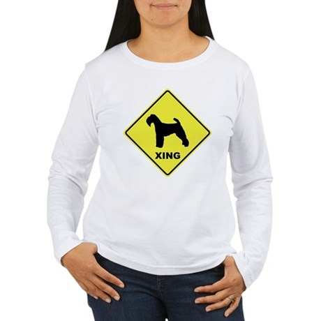 Welsh Terrier Crossing Women's Long Sleeve T-Shirt