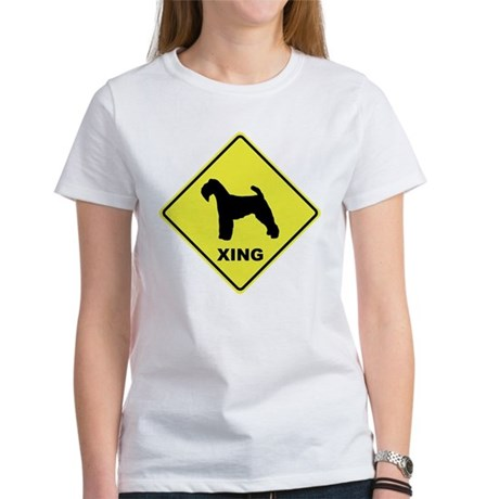 Welsh Terrier Crossing Women's T-Shirt