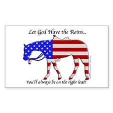 Let God have the Reins Rectangle Decal
