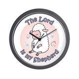Lord Is My Shepherd Wall Clock