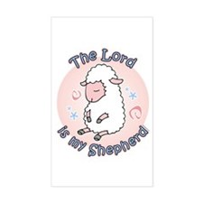 Lord Is My Shepherd Rectangle Decal