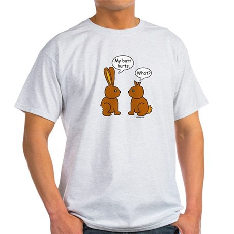 Funny Chocolate Bunnies Light T-Shirt