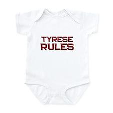 tyrese rules Infant Bodysuit