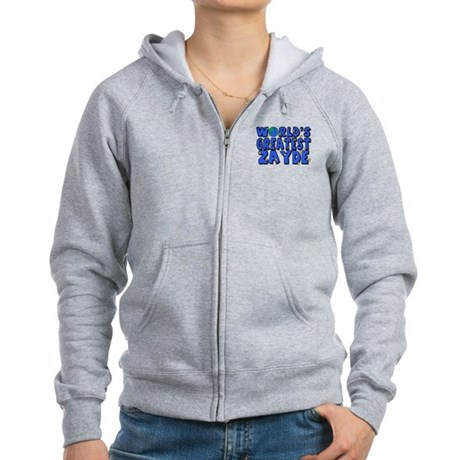 World's Greatest Zayde Women's Zip Hoodie