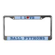 I Love Ball Pythons License Plate Frame