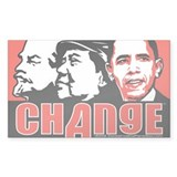 CHANGE Lenin, Mao, anti Obama bumper sticker