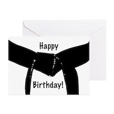 Black Belt Happy Birthday Cards 20PK