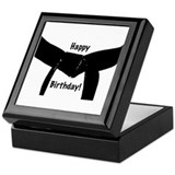 Black Belt Happy Birthday Keepsake Box