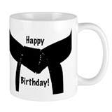 Black Belt Happy Birthday Small Mug
