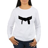 Martial Arts Black Belt Women's Long Slv T-Shirt