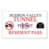 """Hudson River Tunnel Pass"" sticker"