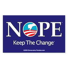 NOPE Keep the Change anti Obama stickers (10)