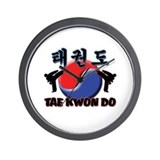 Tae Kwon Do Wall Clock