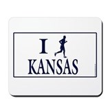 Men's I Run Kansas Mousepad