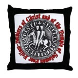 Knights Templar Seal Throw Pillow