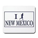 Men's I Run New Mexico Mousepad