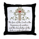 The Fear Of The Lord Throw Pillow