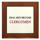Real Men Become Clergymen Framed Tile