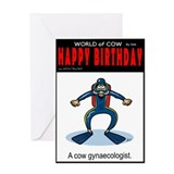 Cow gynae Greeting Card