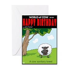 Cow Towel Greeting Card