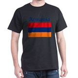 Armenian Flag Black T-Shirt