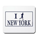 Men's I Run New York Mousepad