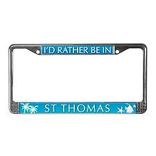 St Thomas License Plate Frame