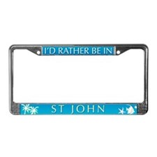 St John License Plate Frame