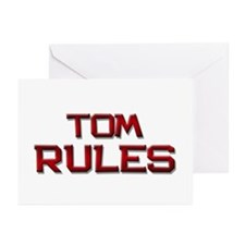 tom rules Greeting Cards (Pk of 10)