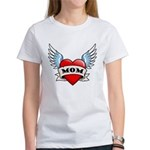 Mom Tattoo Winged Heart Women's T-Shirt