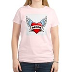 Mom Tattoo Winged Heart Women's Light T-Shirt