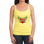 Mom Tattoo Winged Heart Jr. Spaghetti Tank