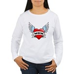 Mom Tattoo Winged Heart Women's Long Sleeve T-Shir