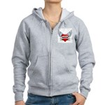 Mom Tattoo Winged Heart Women's Zip Hoodie