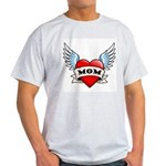 Mom Tattoo Winged Heart Light T-Shirt