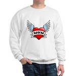 Mom Tattoo Winged Heart Sweatshirt