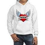 Mom Tattoo Winged Heart Hooded Sweatshirt