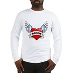 Mom Tattoo Winged Heart Long Sleeve T-Shirt
