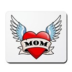 Mom Tattoo Winged Heart Mousepad