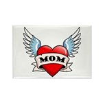 Mom Tattoo Winged Heart Rectangle Magnet (10 pack)