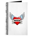 Mom Tattoo Winged Heart Journal