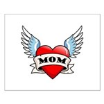 Mom Tattoo Winged Heart Small Poster
