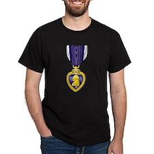 Purple Heart Black T-Shirt