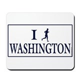 Men's I Run Washington Mousepad