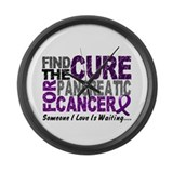Find The Cure 1 PANCREATIC Large Wall Clock