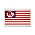 Anti-Bush American Flag Rectangle Magnet