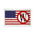Slash Through W American Flag Rectangle Magnet