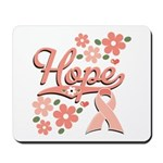 Hope Pink Ribbon Mousepad