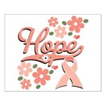 Hope Pink Ribbon Small Poster