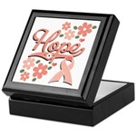 Hope Pink Ribbon Keepsake Box